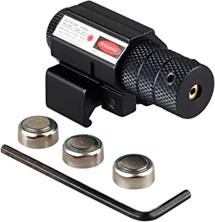 Micnaron Tactical Red Laser Beam Dot Sight Scope for Gun Rifle Pistol Picatinny Mount Hunting