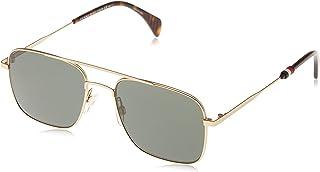 Tommy Hilfiger Men's Th1537s Square Sunglasses, SMTT Gold, 55 mm