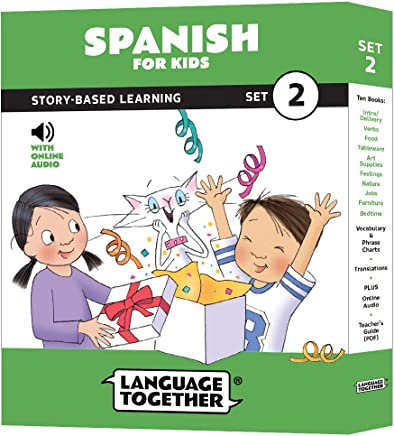 Spanish for Kids: 10 Early Beginner Reader Books with Online Audio and English (Set
