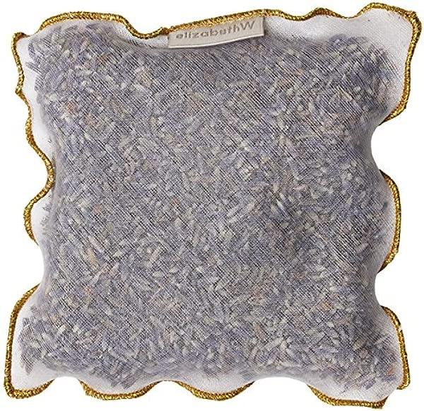 ElizabethW Lavender Silk Sachet With Gold Trim