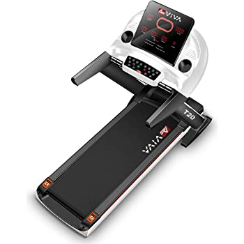 AsVIVA Laufband T20 Cardio Pro Runner – Heimtrainer mit Fitnesscomputer, 15% Steigung elektronisch, 7PS sparsamer Speed-Motor bis zu 20km/h, Pulsempfänger inkl. Brustgurt | Fitnessgerät klappbar