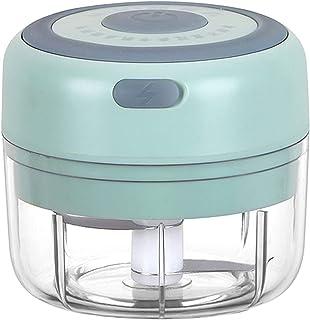Stool Mini Picadora de Alimentos Eléctrica,Picador de Ajo Eléctrica,Carga USB,10 Segundos de triturado,triturado Carne,Fru...
