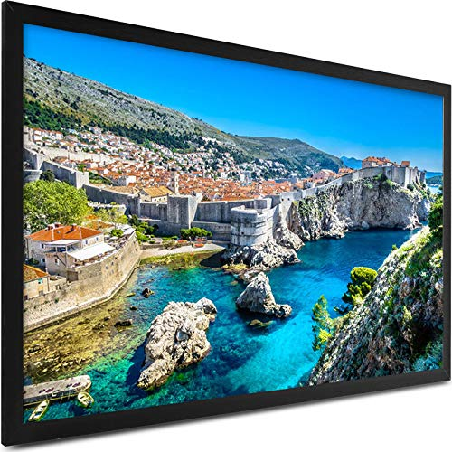 VEVOR Projector Screen 155inch Outdoor Projector Screen 16:9 Movie Screen Fixed Frame 3D Projector Screen for 4K HDTV Movie Theater