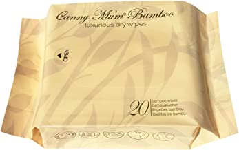 CannyMum Bamboo Wipes. 20 Dry Wipes. Biodegradable & Non-Plastic Wipes. Larger and Thicker Wipes.