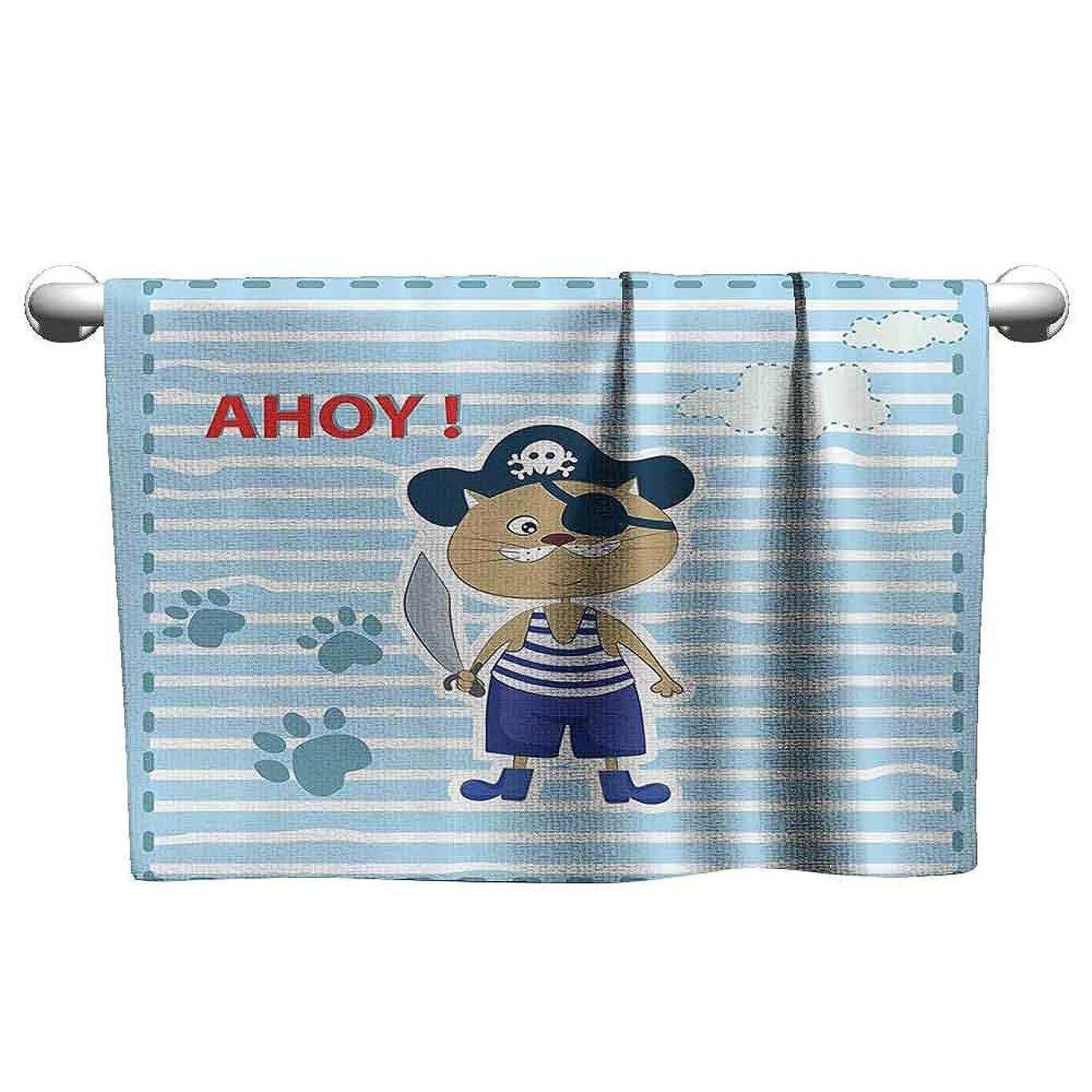 生じる管理間違えたalisoso クライミングタオル Ahoy Its a Boy、アナウンスメントカードからインスピレーションを得たコンポジション 海洋生物 マルチカラー マイクロファイバー スポーツ W 14 x L 14(inch)