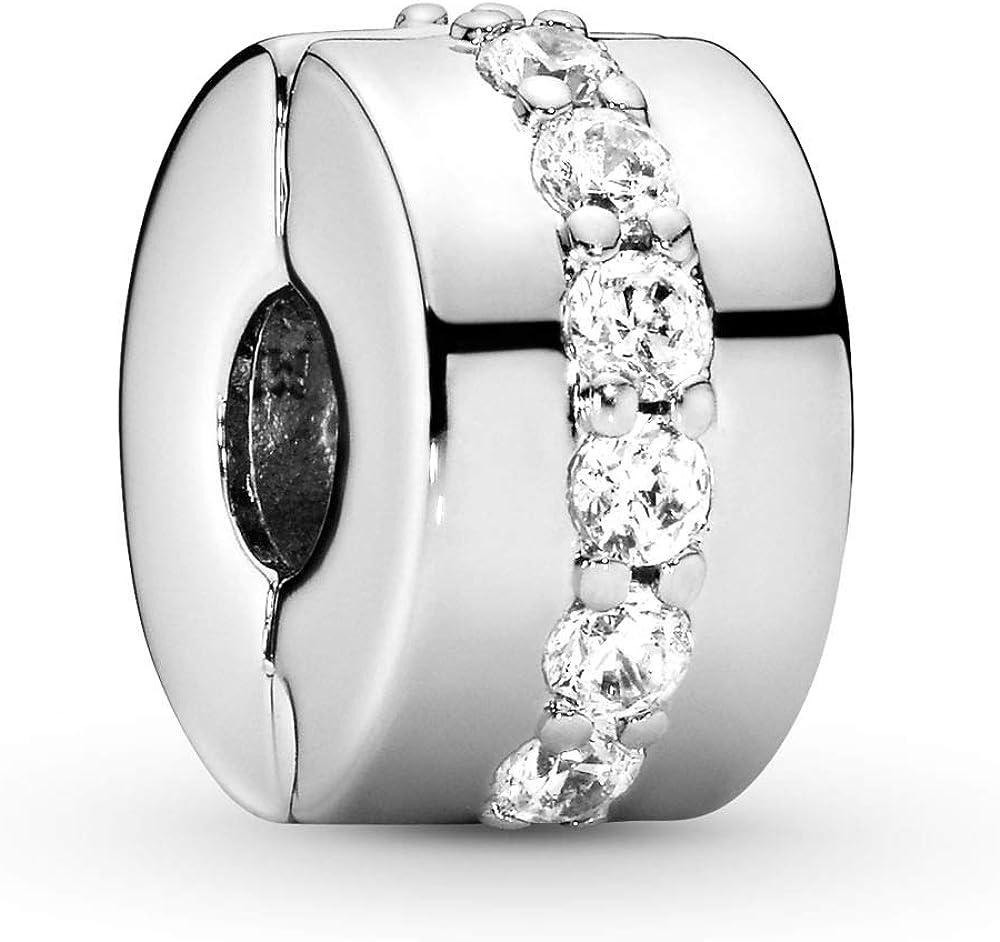 Pandora,ciondolo da donna,in argento 925 con zirconi bianchi 791972CZ