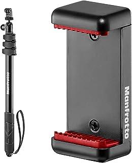 【セット買い】Manfrotto 一脚兼マルチポール COMPACT Xtreme ボール雲台 Goproアダプター付属 MPCOMPACT-BK & スマートフォン用三脚アダプター MCLAMP