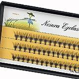 Scala 10 Root 60pcs Black Handmade False Eyelashes Natural Long Individual Eyelashes Extension Fake Lashes Makeup Beauty Cosmetic (15mm)