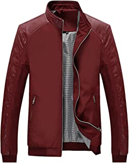 2019 Men New Coat,Fashion Men's Autumn Winter Casual Pocket Button Thermal Leather Jacket Top Coat