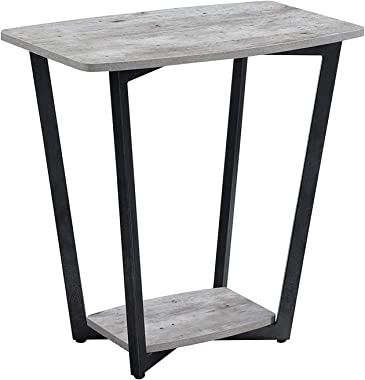 Convenience Concepts Graystone End Table, Faux Birch / Slate Gray Frame