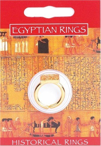 Anillo sacerdote chapado en oro - Joyería egipcia