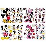Adesivi Muro Minnie Cartoon Kids Adesivi da Parete Minnie e Topolino Adesivi per Camera Neonati e Bambini Decorazione Cartone Animato Bambini Stickers 20 * 30cm 4Pcs