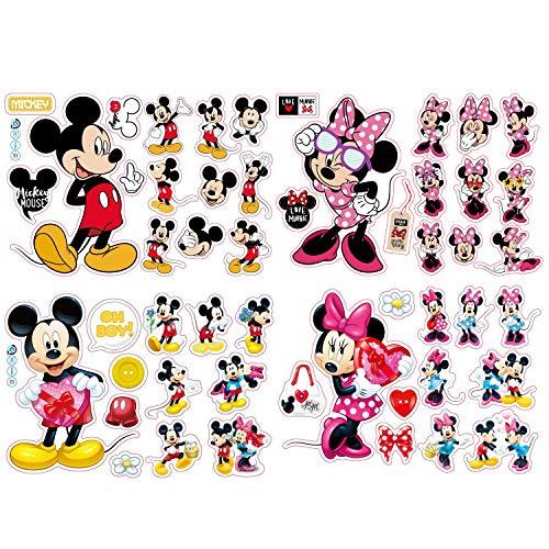 Wandtattoo Mickey Mouse Mickey Mouse Wandsticker Kinderzimmer Micky Mouse Entfernbarer Wanddekoration für Babyzimmer Wohnzimmer Schlafzimmer 20 * 30cm 4Pcs