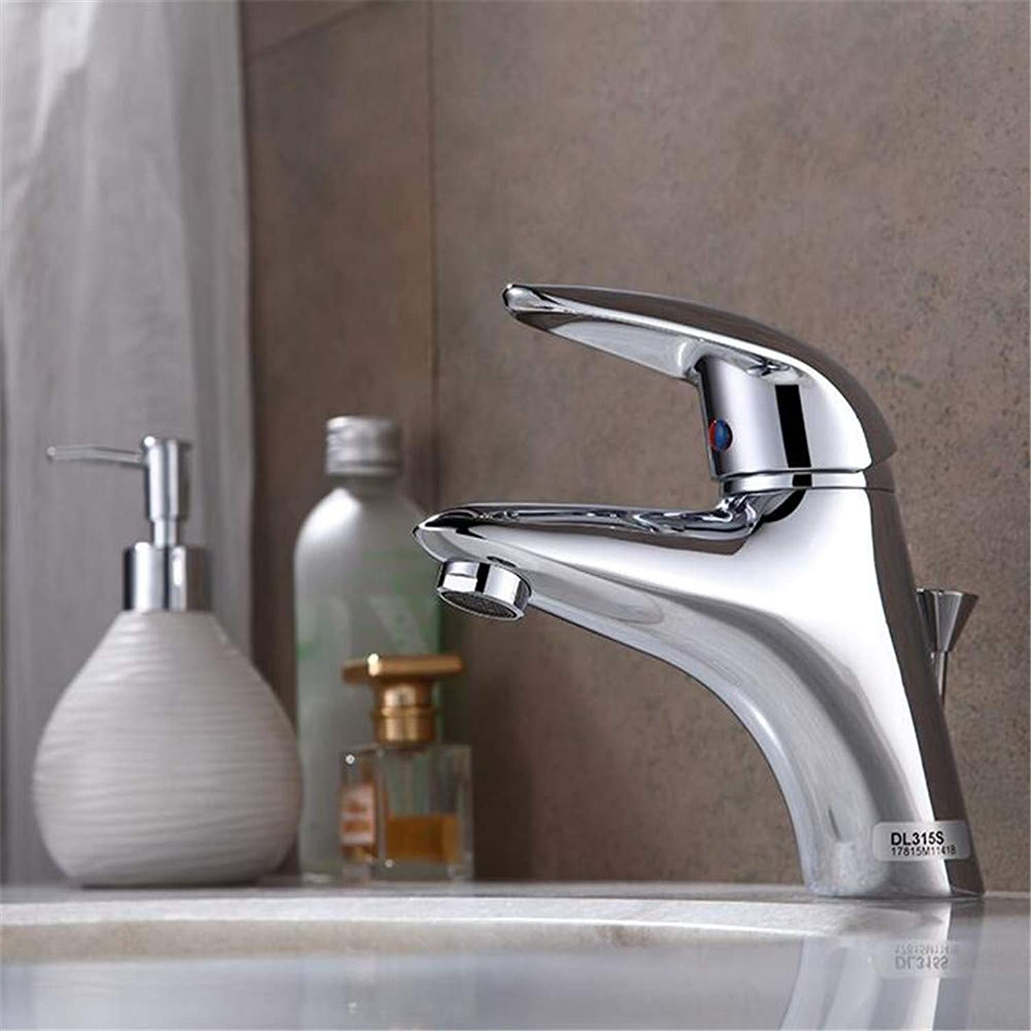 Bath Faucet Bathroom Hot and Cold Water Basin Basin Single Hole Single Handle Wash Basin Basin Mixer