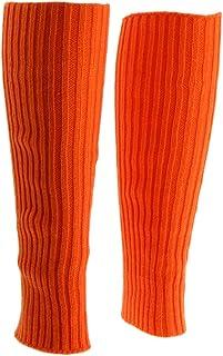 Baosity Ladies Girls Plain Winter Warm Leg Warmers Cable Knit Crochet Socks Leggings