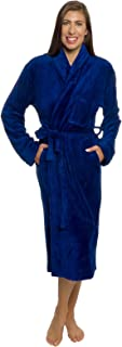 Silver Lilly Womens Bathrobe Plush Wrap Kimono Loungewear Gown