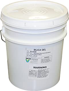 Van Air Systems 33-0246 Pail Indicating Silica Gel, Re-Sealable, Blue to Pink Indicates Moisture Control for Dryers, Dehumidifiers, 25 lb