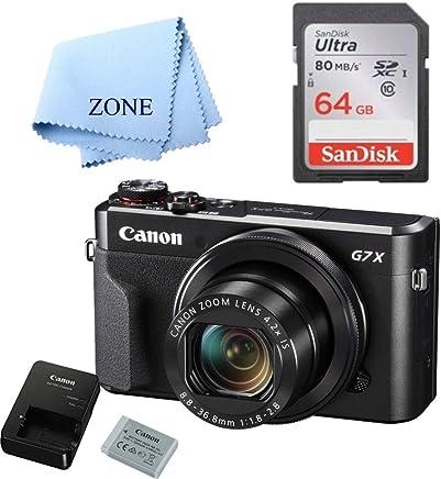 Canon G7X Mark II Cámara digital – Wi-Fi y NFC habilitado (negro) con tarjeta SDHC de 64 GB gratis