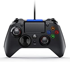 PICTEK PS4 Controller, 3-in-1 Wired Gaming Controller with Vibration Turbo and Trigger Buttons, USB Controller Joystick Gamepad for Playstation 4, PS3, Windows, TV Box, Android