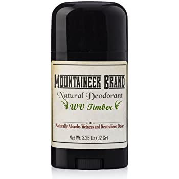 Natural Aluminum-Free Deodorant Stick by Mountaineer Brand   Stay Fresh With Nontoxic Ingredients   3.25 oz (Timber Scent)