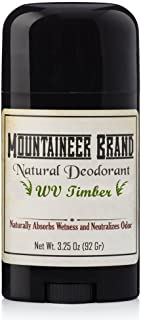 Natural Aluminum-Free Deodorant Stick by Mountaineer Brand | Stay Fresh With Nontoxic Ingredients | 3.25 oz (Timber Scent)