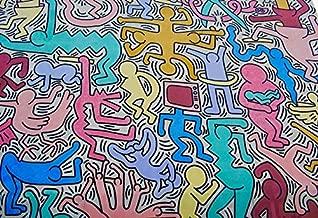 Home Comforts Wall Graffiti Color Art Murals Keith Haring Laminated Poster Print 24 x 36