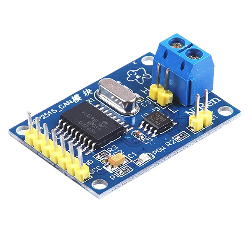研究ファイアル航空便Arduino 適用 MCP2515バスモジュール CANバスモジュール TJA1050レシーバ SPIモジュール
