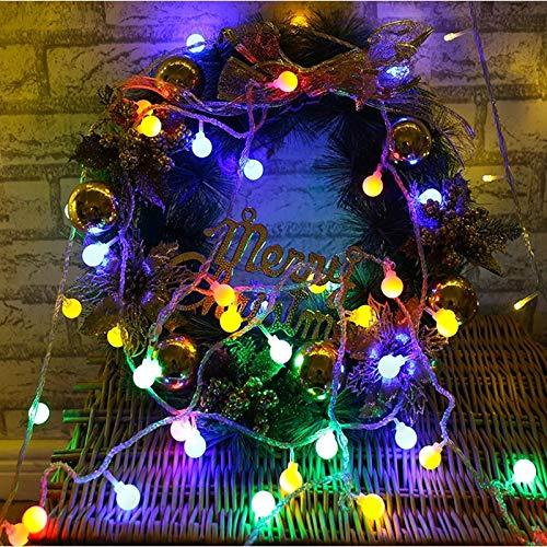 1 guirnalda de cuento de hadas luces de cadena de bolas LED bombillas de luz de Navidad cadena de cuento de hadas luces decorativas cadena batería multicolor 10m100 leds