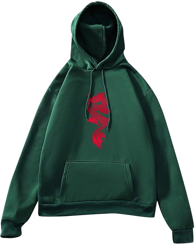 Forwelly Women's Oversize Sweatshirt with Hooded Long Sleeve Cute Animal Printed Hoodie Loose Blouse Tops
