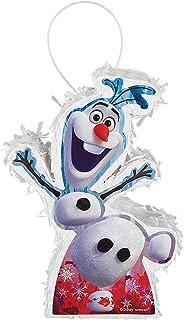 "Amscan 243211 Frozen 2 Birthday, Mini Olaf Pinata Decoration, 5"" x 7"" x 2"", 1 piece"