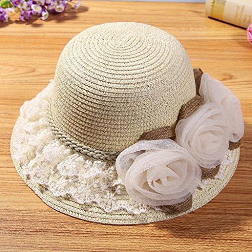 MMWYC Cappello da Sole da Donna, Cappello Estivo da Esterno Protezione Solare Protezione Solare (Color : Beige)