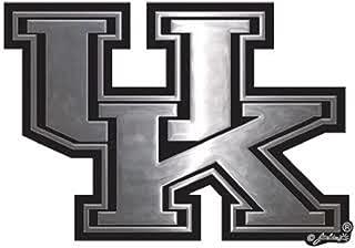 Jenkins Enterprises Kentucky Wildcats UK Silver Tone Auto Emblem