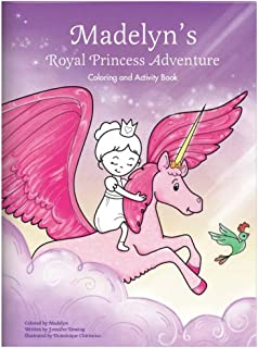 personalized princess coloring book