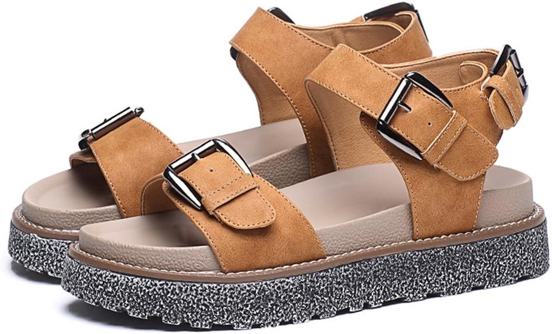 Gusha Classic Strap Sandals Fashion Women's Platform shoes Summer Buckle shoes
