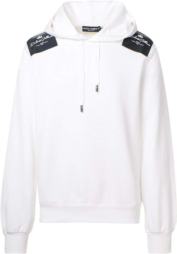 Dolce & gabbana luxury fashion,felpa per uomo,100% cotone,taglia 50 eu G9OF9ZG7XEZW0800