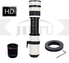 JINTU 420-1600mm f/8.3 Manual Telephoto Lens + 2X Teleconverter for Nikon D7000, D500, D600, D7200, D7500, D750, D800, D810, D850, D3100, D3200, D3300, D3400, D5100, D5200, D5300, D5500, D5600, D5400
