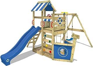 Parque infantil de madera con columpio y tobogán - WICKEY SeaFlyer