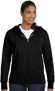 eConscious Ladies 9 oz. Organic/Recycled Full-Zip Hood - X-Large - BLACK