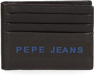 Pepe Jeans Raise Tarjetero Marrón 9,5x7,5 cms Piel