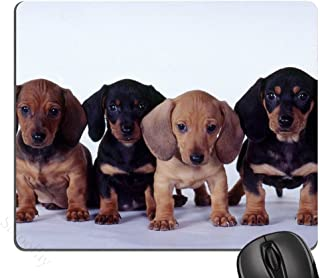 Dachshund Puppies Mouse Pad, Mousepad (Dogs Mouse Pad)