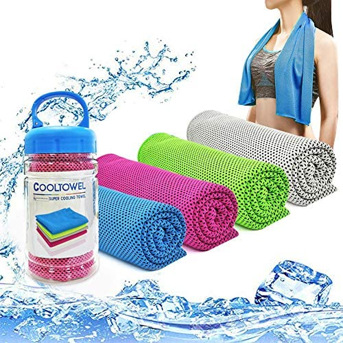 YouCoulee Cooling Towel for Instant Cooling Relief 4 Packs Cool Towel for Neck Cooling Towels product image