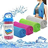 YouCoulee Cooling Towel for Instant Cooling Relief, 4 Packs Cool Towel for Neck,Cooling Towels Neck Cooler for Extremely Hot Weather,Ice Towel Chilly Towel for Yoga,Sport,Gym,Workout,Running(40'x 12')
