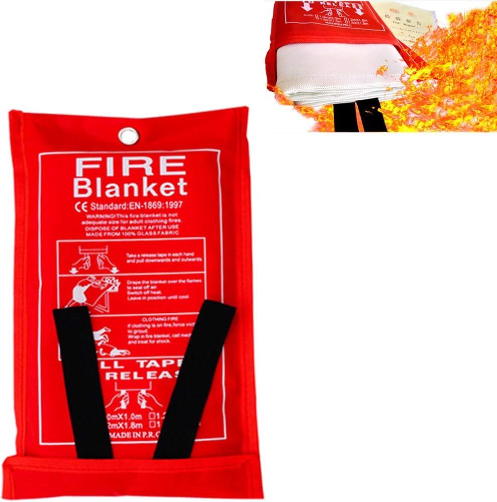 Warmword Fiberglass Fire Blanket Kitchen Emergency for People Max 72% OFF Su Max 63% OFF