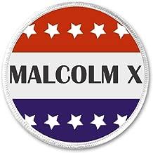 Malcolm X Red White Blue Stars 3