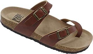 Alexis Bendel 男式双扣带凉鞋人字拖防水台鞋垫凉鞋