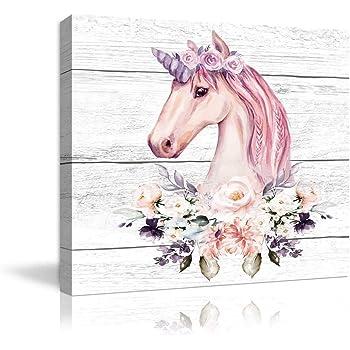 Little Secrets Clothing Girls Personalised Magical Unicorn Money Box White Frame Pink Glitter 23cm