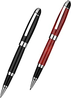 TENTER Ballpoint Pen For Journaling Writing Set Office Great Nice Gift Pen Set for Men Signature Executive Business (2Pens Red and Black 4 Black Ink Refill )