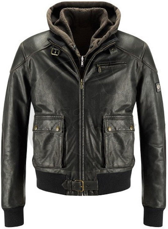 Fadcloset Orlando Womens Leather Bomber Jacket