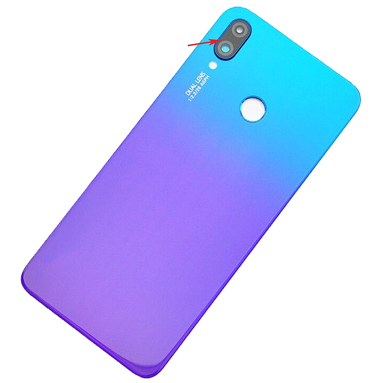 Ubrokeifixit Compatible Rear Panel Back Housing Cover Replacement with Camera Glass Lens Cover for Huawei nova 3i INE-LX2 INE-LX2r INE-LX1r 6.3