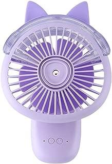 SHANGRUIYUAN-Mini Fan Cartoon Fan Multi-Function Handheld Desktop Fan Outdoor Portable Mini Air Cooler (Color : Purple)